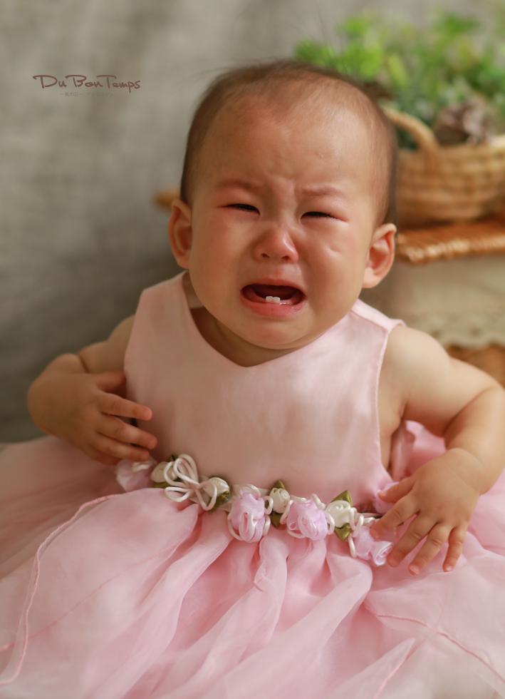 泣き顔もかわいい1歳バースデー撮影!